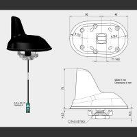 Passiv sharkantenne for takmontering 375901