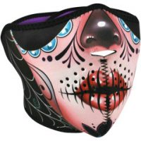 25040410 SUGAR SKULL HALF FACE MASK ONE SIZE