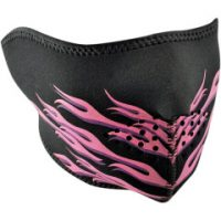1347321 Pink FLAMES HALF FACE MASK ONE SIZE