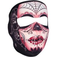 25040409 SUGAR SKULL FULL FACE MASK ONE SIZE